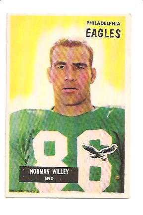 1955 Bowman #138 Norm Willey