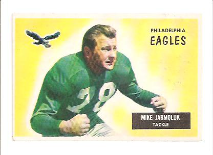 1955 Bowman #151 Mike Jarmoluk RC