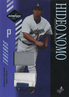 2003 Leaf Limited Threads Double Prime #14 H.Nomo Dgr Jsy-Pants/10