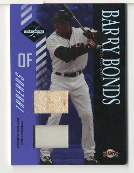 2003 Leaf Limited Threads Double Prime #54 Barry Bonds H Ball-Base/10