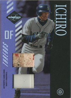 2003 Leaf Limited Threads Double Prime #133 I.Suzuki Run Ball-Base/10