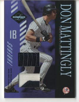 2003 Leaf Limited Threads Double Prime #162 Don Mattingly Btg Glv-Jsy/10