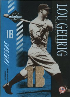 2003 Leaf Limited Threads Position #155 Lou Gehrig/5