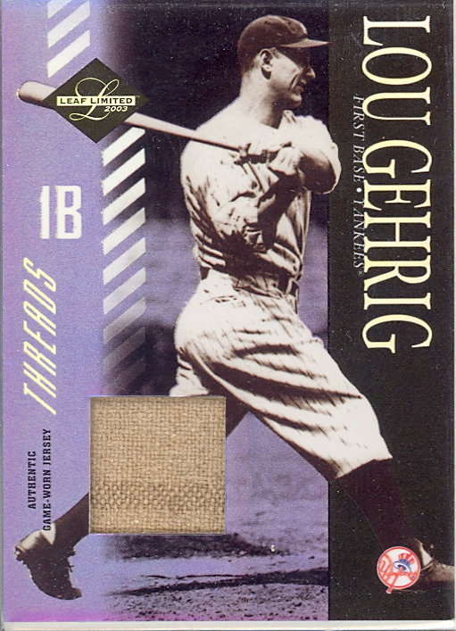 2003 Leaf Limited Threads Prime #155 Lou Gehrig/5
