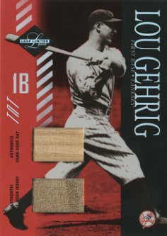 2003 Leaf Limited TNT #155 Lou Gehrig Bat-Jsy/5
