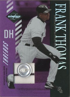 2003 Leaf Limited Threads Button #49 Frank Thomas Swing
