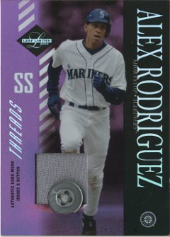 2003 Leaf Limited Threads Button #111 Alex Rodriguez M's H
