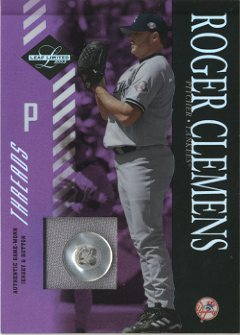 2003 Leaf Limited Threads Button #129 R.Clemens Yanks A