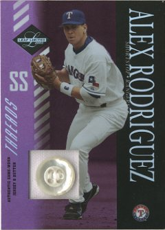 2003 Leaf Limited Threads Button #132 Alex Rodriguez Rgr H