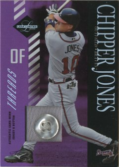 2003 Leaf Limited Threads Button #140 Chipper Jones A
