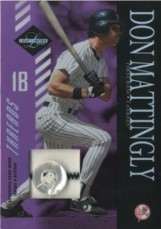 2003 Leaf Limited Threads Button #162 Don Mattingly