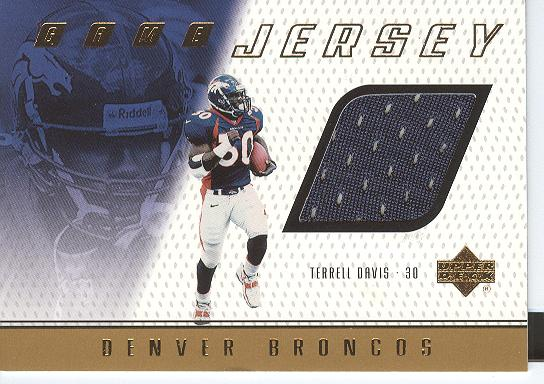 1999 Upper Deck Game Jersey #TD Terrell Davis H/R
