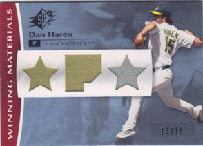 2008 SPx Winning Materials Position 75 #DH Dan Haren