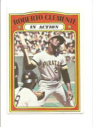 1972 Topps #310 Roberto Clemente IA front image