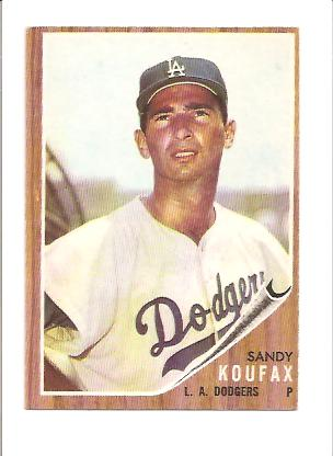 1962 Topps #5 Sandy Koufax UER (Struck ou 18) front image