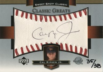 2003 Sweet Spot Classics Autographs Black Ink #CR Cal Ripken/38
