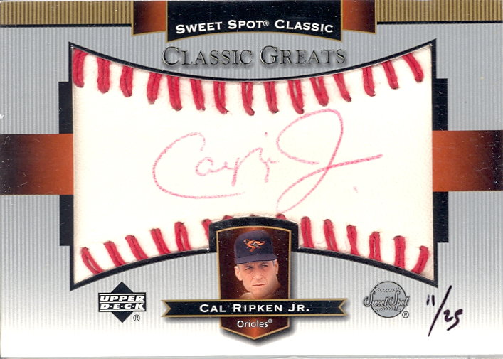 2003 Sweet Spot Classics Autographs Red Ink #CR Cal Ripken