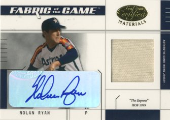 2003 Leaf Certified Materials Fabric of the Game Autographs #116IN Nolan Ryan Astros IN/5
