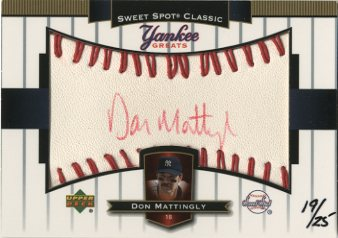2003 Sweet Spot Classics Autographs Yankee Greats Red Ink #DM Don Mattingly