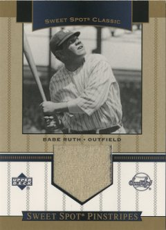 2003 Sweet Spot Classics Pinstripes #BR0 Babe Ruth Pants SP