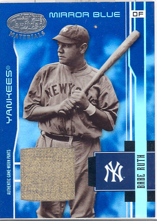 2003 Leaf Certified Materials Mirror Blue Materials #201 Babe Ruth RET Pants/10