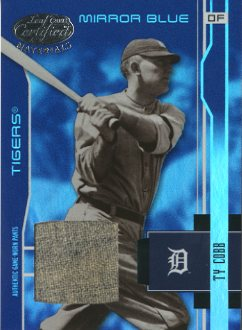 2003 Leaf Certified Materials Mirror Blue Materials #204 Ty Cobb RET Pants/10