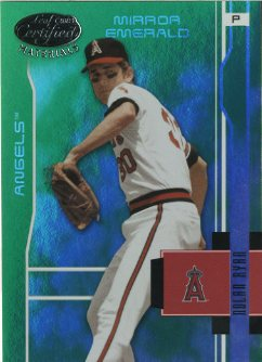 2003 Leaf Certified Materials Mirror Emerald #4 Nolan Ryan Angels
