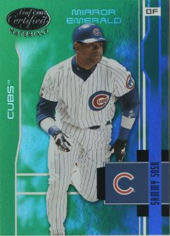 2003 Leaf Certified Materials Mirror Emerald #29 Sammy Sosa