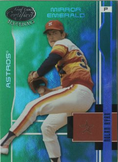 2003 Leaf Certified Materials Mirror Emerald #72 Nolan Ryan Astros