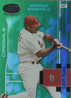 2003 Leaf Certified Materials Mirror Emerald #173 Albert Pujols