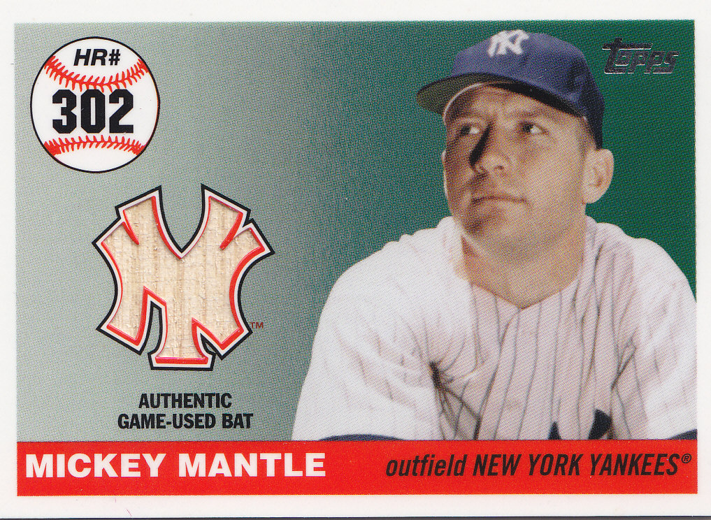 2006 Topps Mantle Home Run History Bat Relics #R302 Mickey Mantle