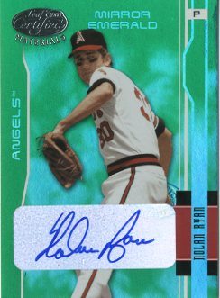 2003 Leaf Certified Materials Mirror Emerald Autographs #4 Nolan Ryan Angels