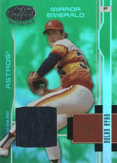 2003 Leaf Certified Materials Mirror Emerald Materials #72 Nolan Ryan Astros Jsy