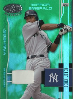 2003 Leaf Certified Materials Mirror Emerald Materials #121 Derek Jeter Base