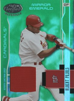 2003 Leaf Certified Materials Mirror Emerald Materials #173 Albert Pujols Jsy
