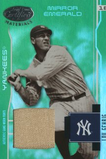 2003 Leaf Certified Materials Mirror Emerald Materials #202 Lou Gehrig RET Pants