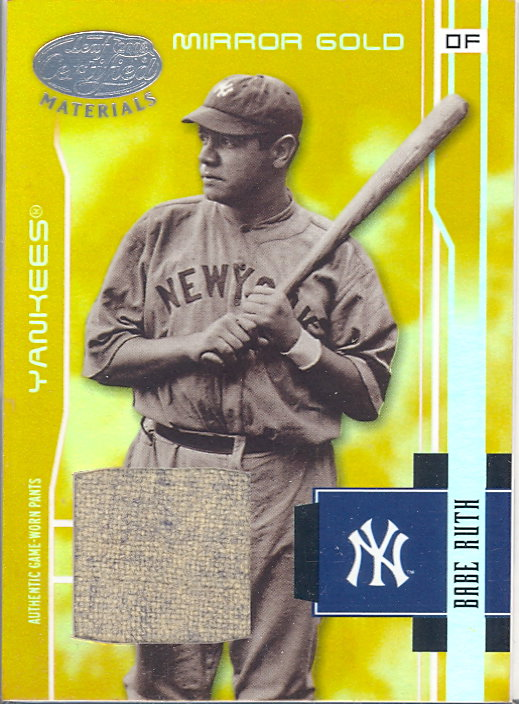 2003 Leaf Certified Materials Mirror Gold Materials #201 Babe Ruth RET Pants/5