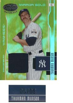 2003 Leaf Certified Materials Mirror Gold Materials #205 Thurman Munson RET Jsy/5