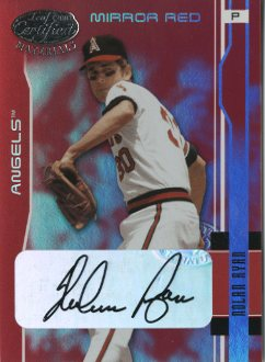 2003 Leaf Certified Materials Mirror Red Autographs #4 Nolan Ryan Angels/5