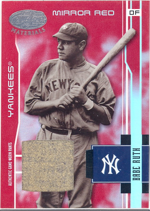 2003 Leaf Certified Materials Mirror Red Materials #201 Babe Ruth RET Pants/15