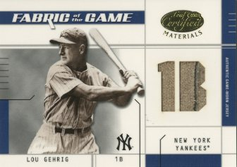 2003 Leaf Certified Materials Fabric of the Game #14PS Lou Gehrig PS/10
