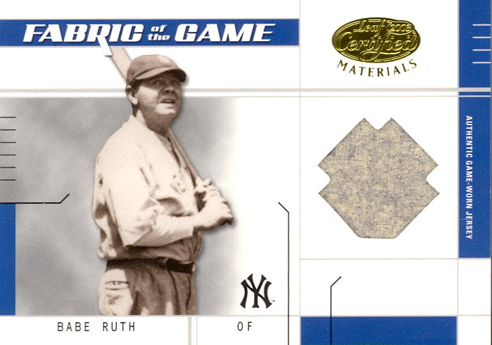 2003 Leaf Certified Materials Fabric of the Game #15BA Babe Ruth BA/10