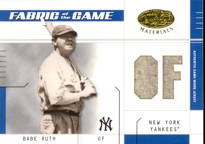 2003 Leaf Certified Materials Fabric of the Game #15PS Babe Ruth PS/10