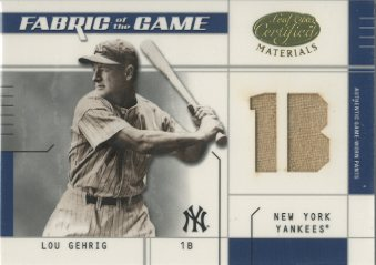 2003 Leaf Certified Materials Fabric of the Game #20PS Lou Gehrig Pants PS/10