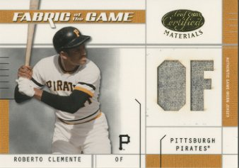 2003 Leaf Certified Materials Fabric of the Game #75PS Roberto Clemente PS/10