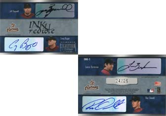 2003 Donruss Signature INKredible Four #1 Jeff Bagwell/Craig Biggio/Lance Berkman/Roy Oswalt