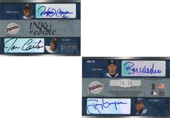 2003 Donruss Signature INKredible Four #10 Roberto Alomar/Joe Carter/Ryan Klesko/Tony Gwynn