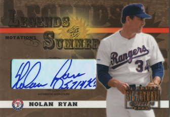 2003 Donruss Signature Legends of Summer Autographs Notations #31 Nolan Ryan Rgr 5714 SO/25