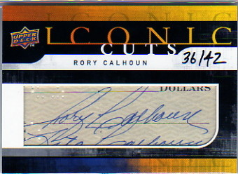 2008 Upper Deck Mystery Iconic Cuts Redemption #IC155 Rory Calhoun/42