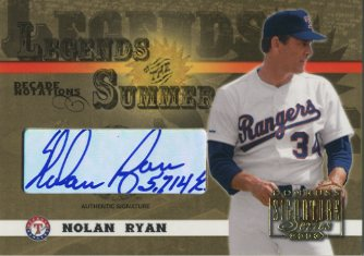 2003 Donruss Signature Legends of Summer Autographs Notations Decade #31 Nolan Ryan Rgr 5714 SO